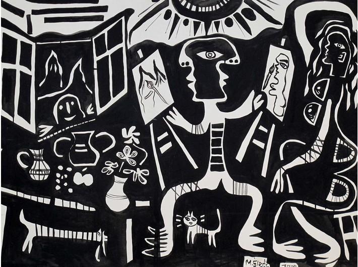 Mirosław Śledź, bez tytułu, 2000, olej, płótno