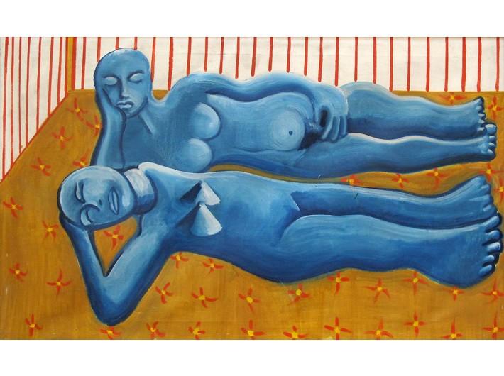 Leszek Zając, //Siesta//, 1991, oil, canvas