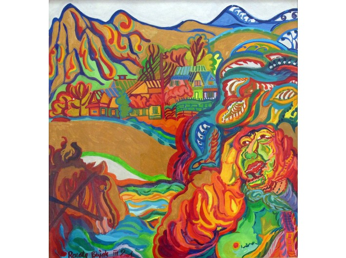 Renata Bujak, //Spring in the Valley//, 2001, gouache, canvas
