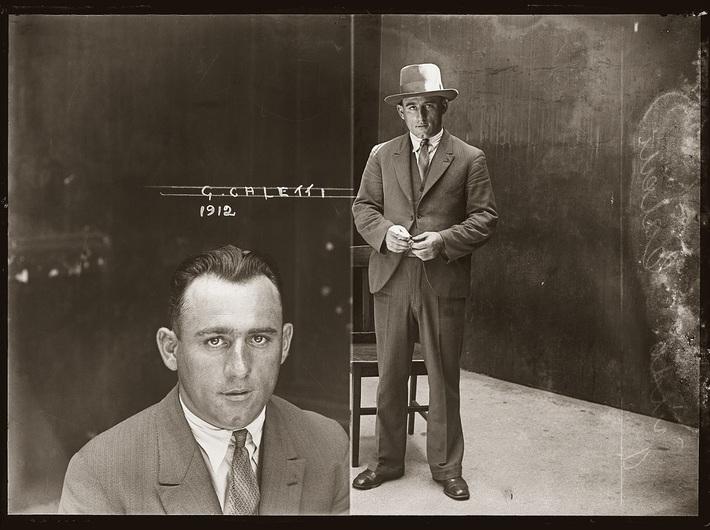 Guido Calletti, fotografia numer 1912, prawdopodobnie styczeń 1930, Główny Komisariat Policji w Sydney