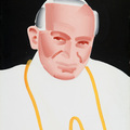 Rafał Bujnowski, //The Pope//, 2002, oil / canvas, The MOCAK Collection279