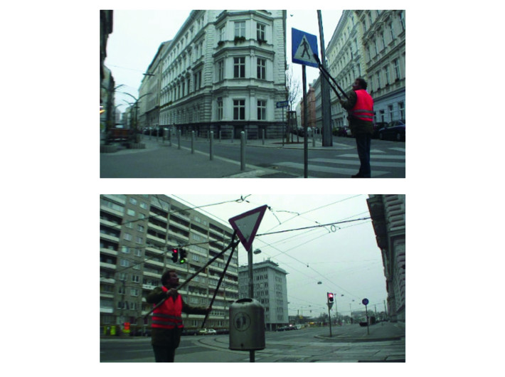 Leopold Kessler, //Perforation cal. 10 mm//, 2007, video