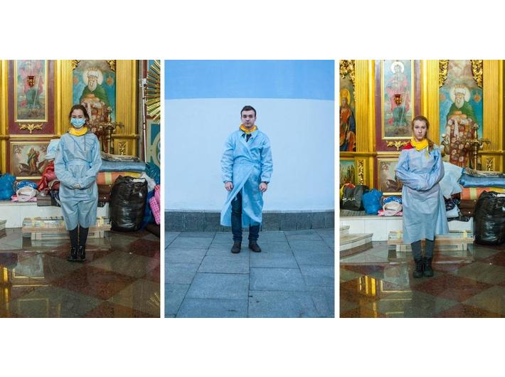 Maria Pavlenko, //Euromaidan – New Middle Ages. Medicine//, 2014, photographs, 150 × 100 cm each, courtesy of Mystetskyi Arsenal