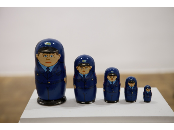 Ksenia Hnylytska, //Police Nesting Dolls//, 2013, mixed media, height 18 cm, courtesy of Mystetskyi Arsenal