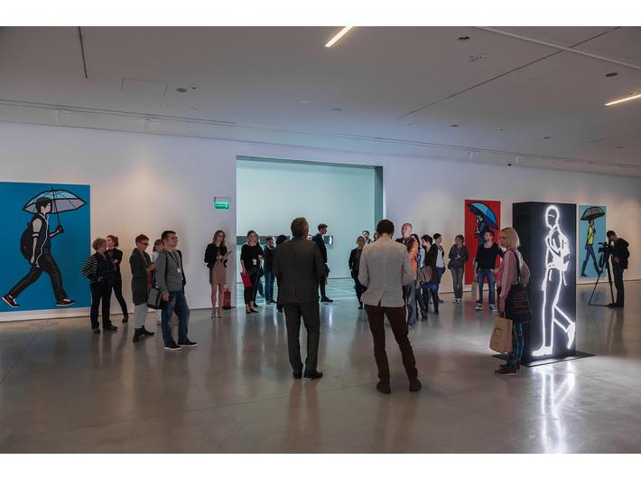 Wystawa Juliana Opiego //Rzeźby, obraz, filmy//, fot. Rafał Sosin