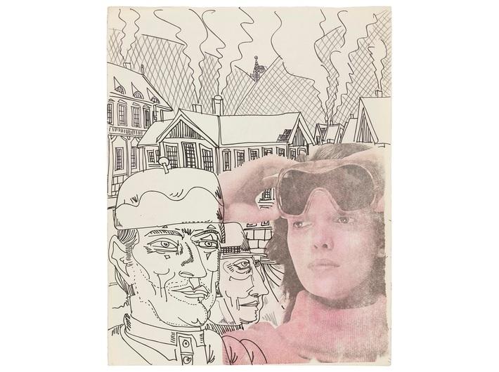 Edward Dwurnik, //Ładne gogle//,  z cyklu //Szczawnica//, 1975, technika mieszana, 51,2 × 40,3 cm, dzięki uprzejmości artysty