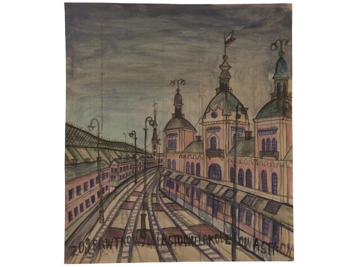 Nikifor Krynicki, lata 30., akwarela / papier, 28 × 24,8 cm, kolekcja prywatna