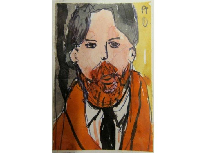 Alina Dawidowicz, bez tytułu, akwarela / papier, 7,5 × 5,8 cm, kolekcja prywatna - 1