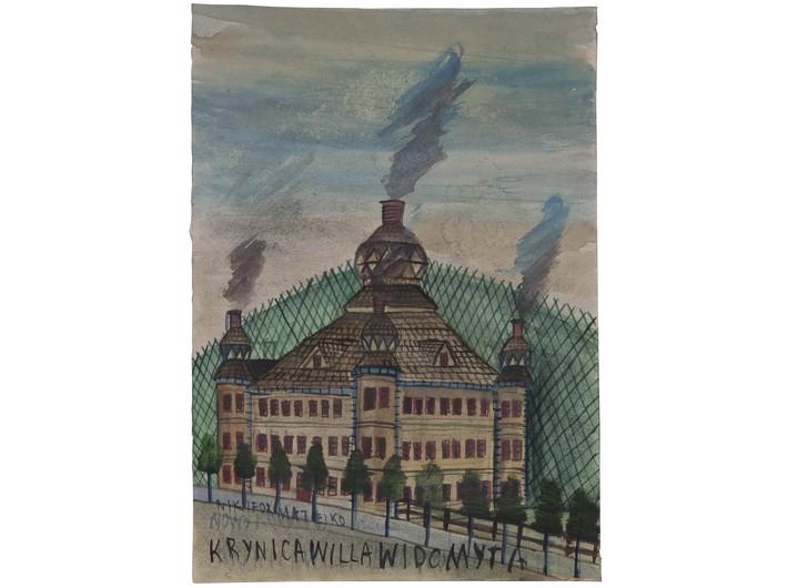 Nikifor Krynicki, akwarela / papier, 29,6 × 21,1 cm, kolekcja prywatna - 2