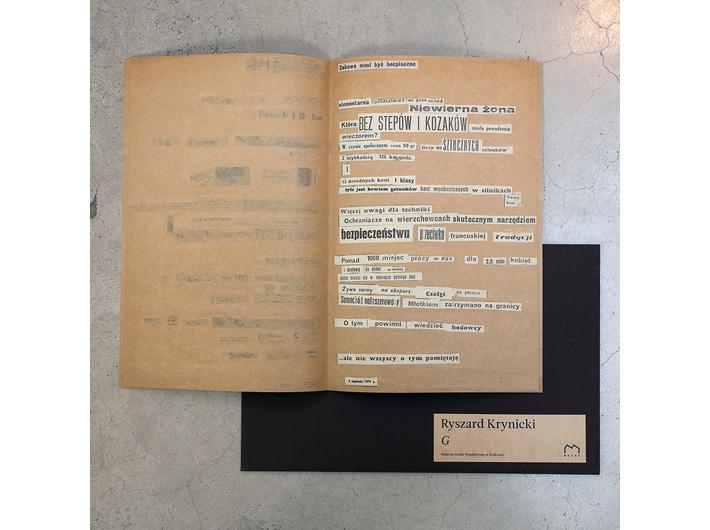 Ryszard Krynicki //G//, Museum of Contemporary Art in Krakow, Krakow 2015