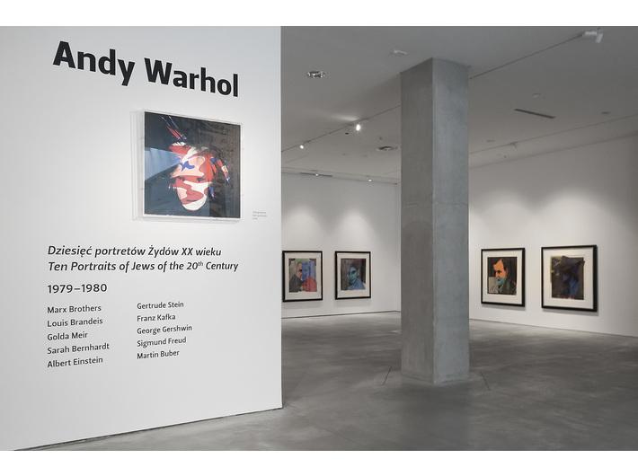 Andy Warhol //Dziesięć portretów Żydów XX wieku//, Muzeum Sztuki Współczesnej w Krakowie MOCAK, fot. Rafał Sosin