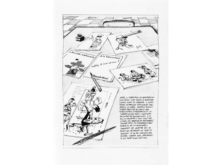 Michel Kichka, //Duxième génération, ce que je n'ai pas dit à mon père//, 2012, comic, 37 × 27,5 cm, courtesy of Dargaud-Lombard-Dupuis Paris