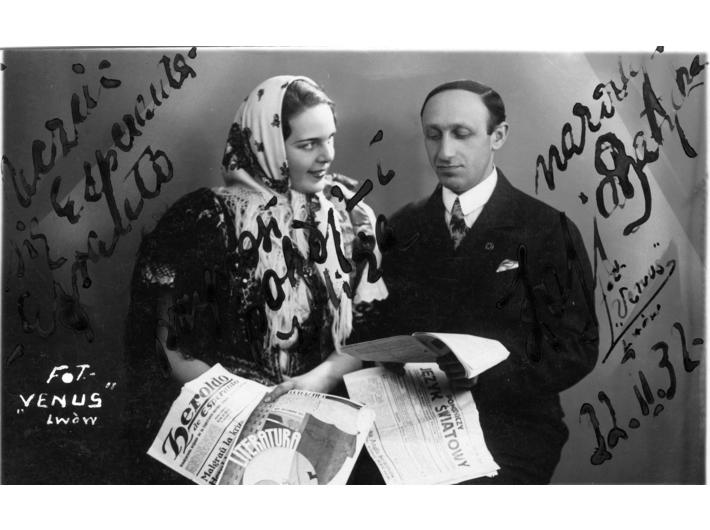 Moment omówienia uczestnictwa artystki Zofii Batyckiej (z lewej) w Światowym Kongresie Esperanto (1932), zbiory Narodowego Archiwum Cyfrowego