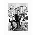 Michel Kichka, //Duxième génération, ce que je n'ai pas dit à mon père//, 2012, comic, 37 × 27,5 cm, courtesy of Dargaud-Lombard-Dupuis Paris358