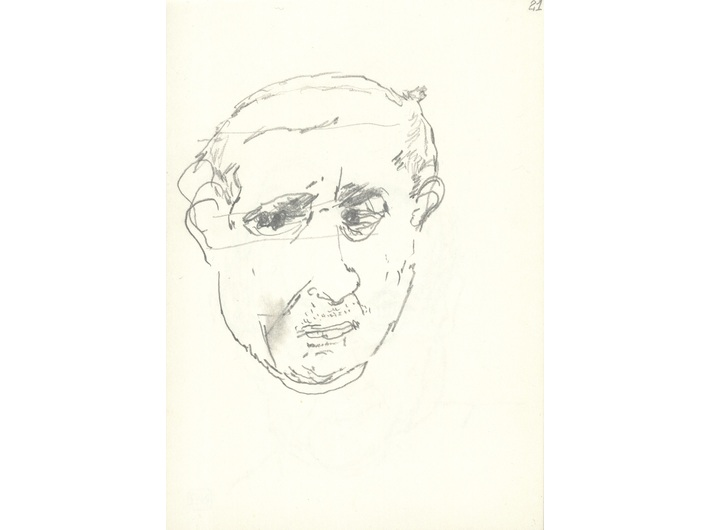 Zbigniew Herbert, September – November 1997, pencil / paper, 14.8 × 10.5 cm, from the collection of the National Library of Poland in Warsaw