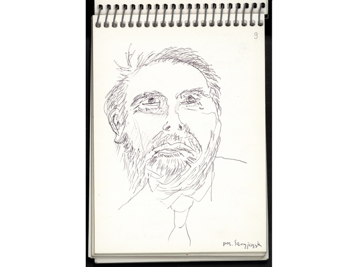Zbigniew Herbert, January – February 1998, ballpoint pen / papier, 14.7 × 10.5 cm, from the collection of the National Library of Poland in Warsaw