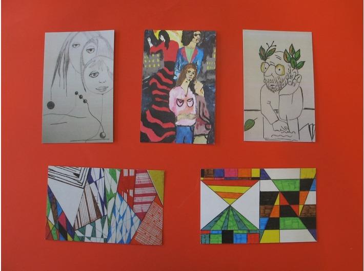 Karty do gry przygotowane przez uczniów ZSS nr 2 w ramach programu Comenius