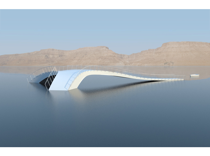 //The Salt Island Bridge//, 50 × 28 × 4 m (projekt wstępny 3D)