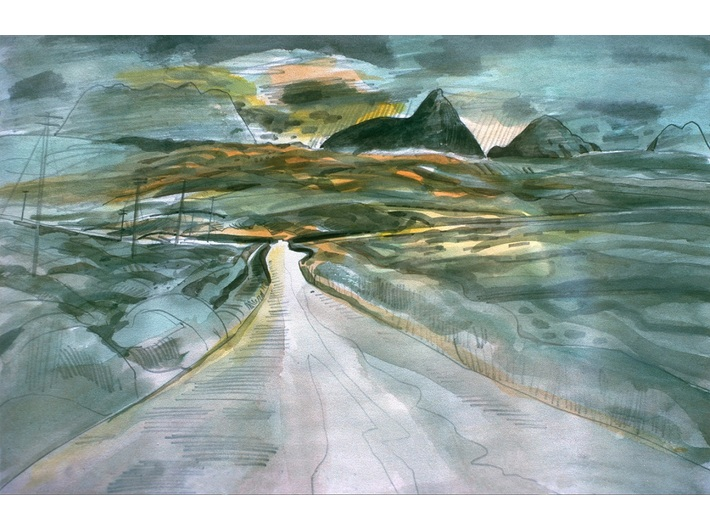 Richard Demarco, //The Road to Meikle Seggie//, 1976, courtesy of the Demarco European Art Foundation