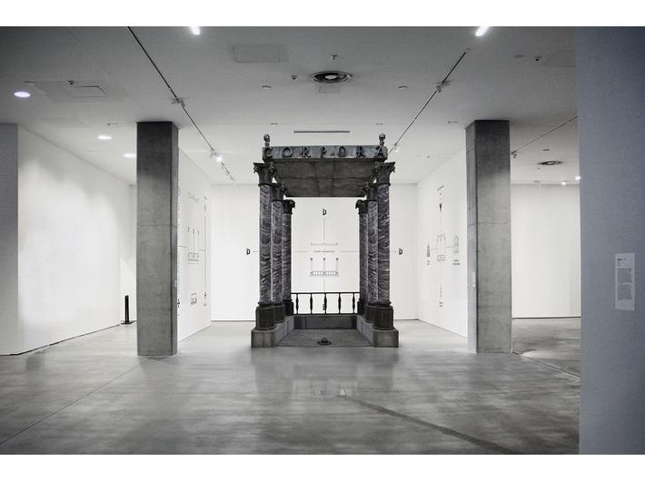 Wizualizacja wystawy //Figury niemożliwe//, © Instytut Architektury / Jakub Woynarowski