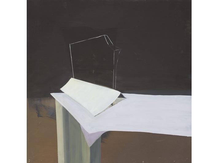 Martin Bischof, //Obraz I (Bild I)//, 2014, olej / płótno, 60 × 60 cm, courtesy M. Bischof, fot. Martin Bilinovac