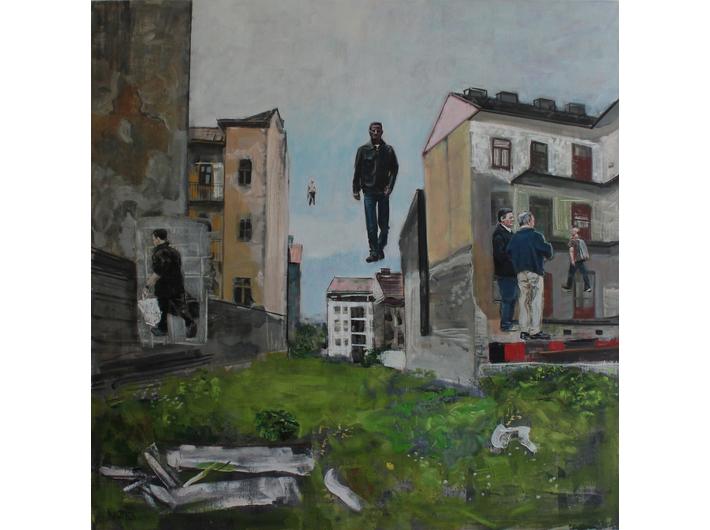 Csaba Nemes, //Z dala od morza//, z cyklu //Imię ojca: Csaba Nemes//, 2013, olej / płótno, Kolekcja MOCAK-u