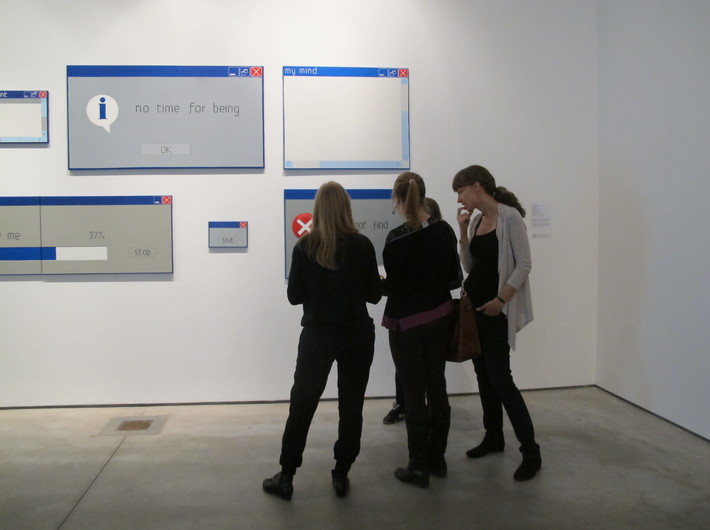 Warsztaty //Audiodeskrypcja Kolekcji//, 17.11.2015, wystawa Kolekcji MOCAK-u, cykl prac Laury Paweli, 2004