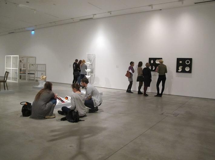 Warsztaty //Audiodeskrypcja Kolekcji//, 17.11.2015, wystawa Kolekcji MOCAK-u