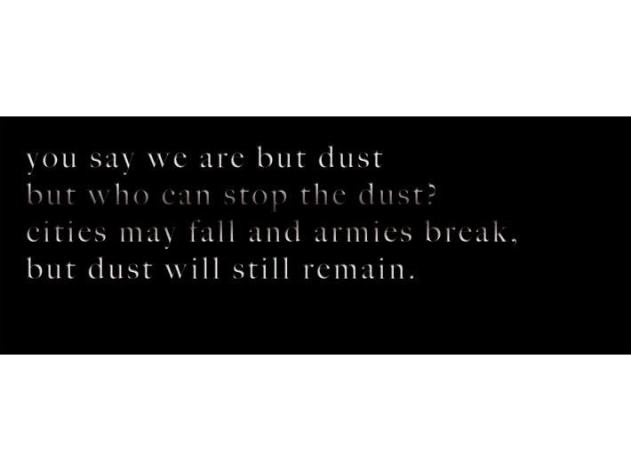 Mariam Ghani, //You say we are but dust…//, 2014