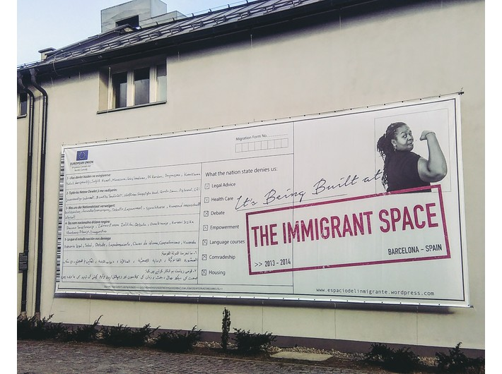 Daniela Ortiz, //Espacio del Inmigrante//, 2014, fragment