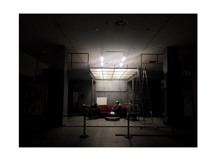 Montaż instalacji  //Live Factory 2: Warhol by Lupa// w MOCAK-u
