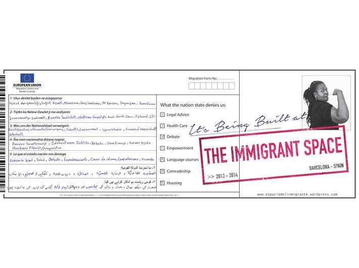 Daniela Ortiz, //The Immigrant Space//, 2014
