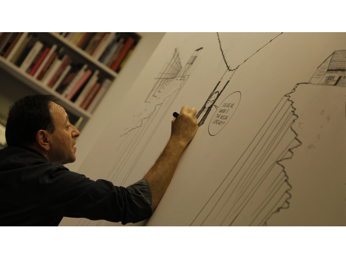 Michel Kichka, //Night of Museums//, 15.5.2015, MOCAK Library