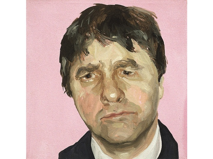 Mark Gilbert, //Chris P. II//, 1999–2000, oil / canvas, 45.72 × 45.72 cm, courtesy of Saving Faces, Mark Gilbert, Professor Iain Hutchison
