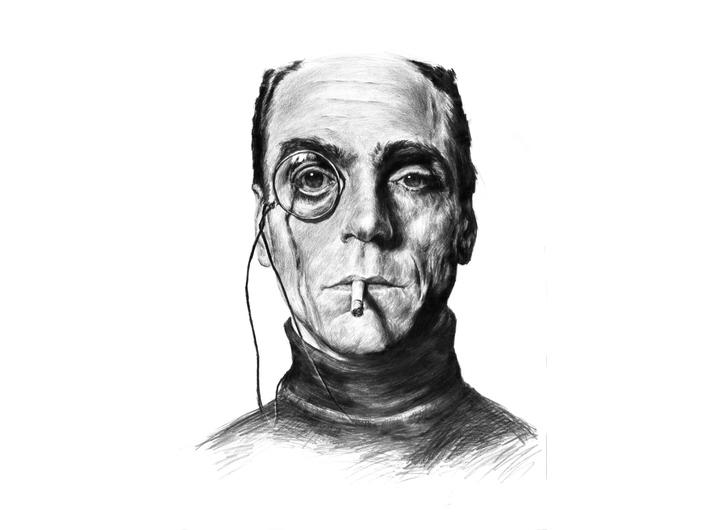 Tomasz Wiatr, //Jeremy Irons,// 2013, ołówek / papier | pencil / paper, 59 × 42 cm. Courtesy T. Wiatr