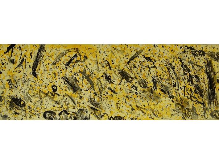 Jerzy Piątkowski, //What Their Essence Is//, 2015, aquatint, corundum, 70 × 192,5 cm. Courtesy of J. Piątkowski