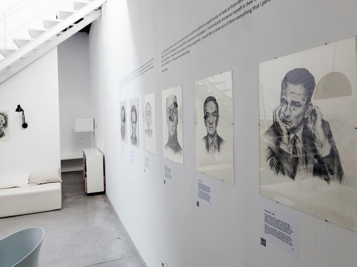 Wystawa Tomasza Wiatra //Szukanie siebie w innych//, Biblioteka MOCAK-u, fot. Rafał Sosin