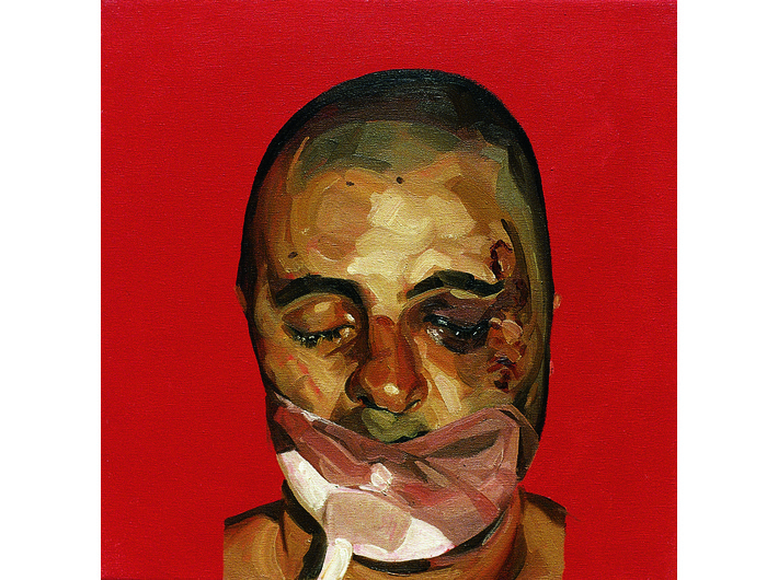 Mark Gilbert, //Chris P. I//, 1999–2000, oil / canvas, 45.72 × 45.72 cm, courtesy of Saving Faces, Mark Gilbert, Professor Iain Hutchison