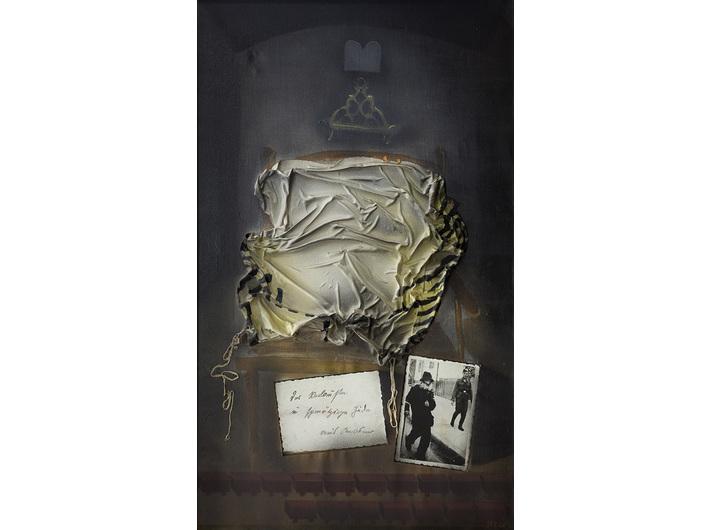 Jonasz Stern, //Upokorzenie//, 1985, asamblaż, 117 × 72 cm, własność prywatna