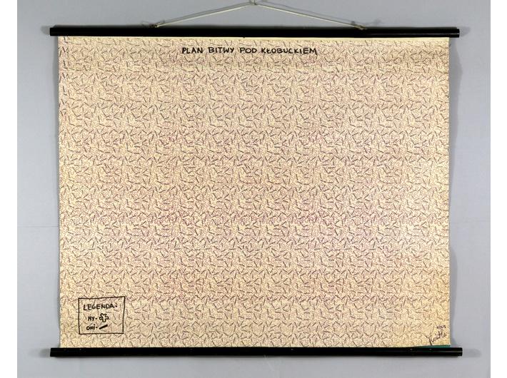 Jerzy Kosałka, //Map of the Battle of Kłobuck//, 2004, object, MOCAK Collection
