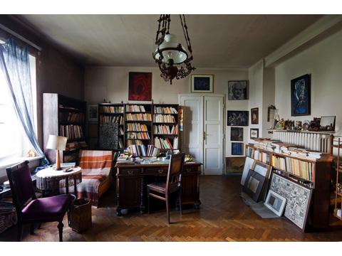 Mieczysław Porębski's Library in his apartment in Krakow