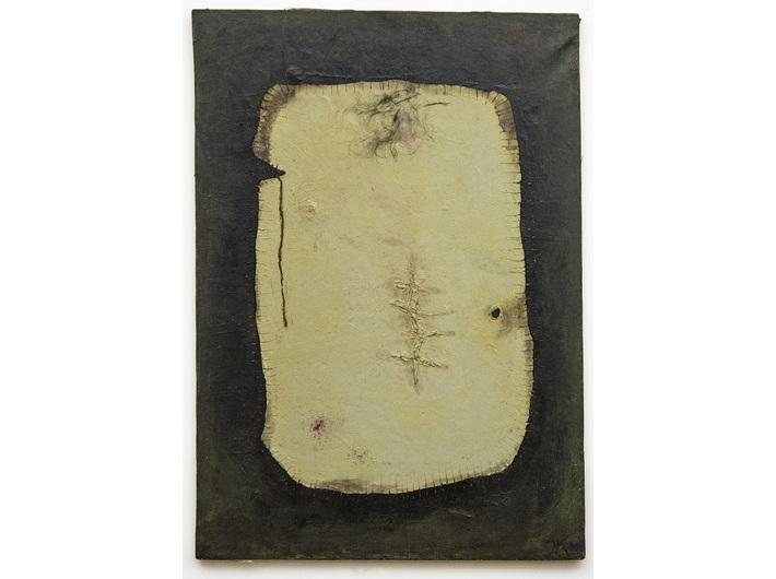 Jarosław Kozłowski, z cyklu //Fragmenty//, 1966, asamblaż, 91,5 × 65 cm, courtesy J. Kozłowski