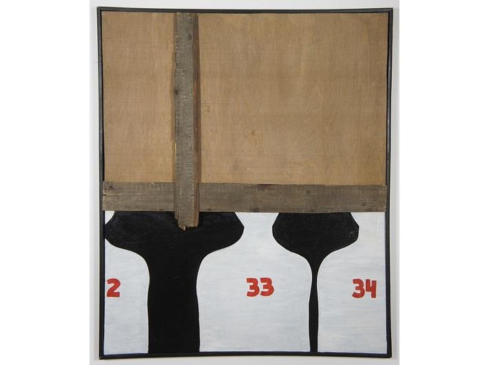 Jarosław Kozłowski, //Kolejny//, 1966–1967, asamblaż, 119,5 × 99 cm, courtesy J. Kozłowski