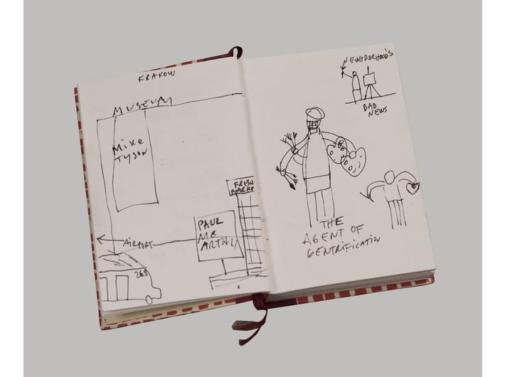 Dan Perjovschi, //MOCAK Krakow Notebook//, 2013, MOCAK Collection