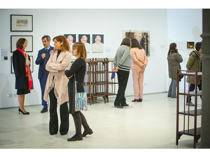Otwarcie wystawy prac z Kolekcji MOCAK-u w Rzymie, fot. Giovanni Stella, courtesy Fondazione MAXXI | widoczne prace Rafała Bujnowskiego