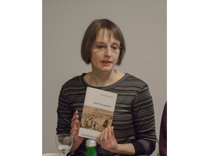 Magdalena Mazik, the curator of the exhibition //Literary Images of the Holocaust: The Passenger by Zofia Posmysz//, photo: Adam Uryniak