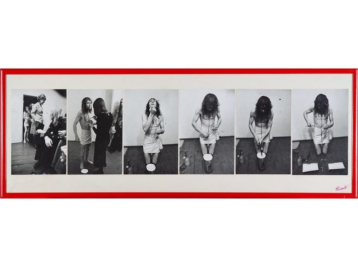 Jerzy Bereś, //Licytacja//, 1973, fotografie z performansu, 35 × 99 cm, Archiwum MOCAK-u