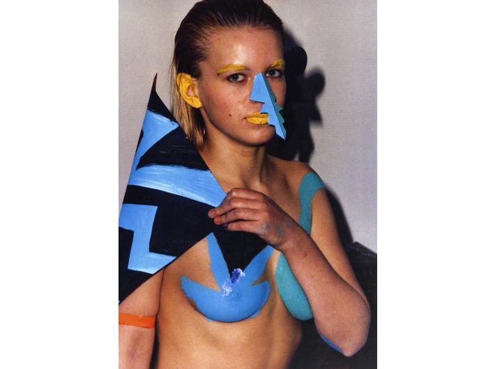 Milan Knížák, //Pokaz mody//, 1987, fotografia z performansu, 29,7 × 21 cm, Archiwum MOCAK-u