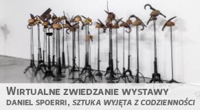 Wirtualne zwiedzanie wystawy - Daniel Spoerri, Szutka wyjęta z codzienności