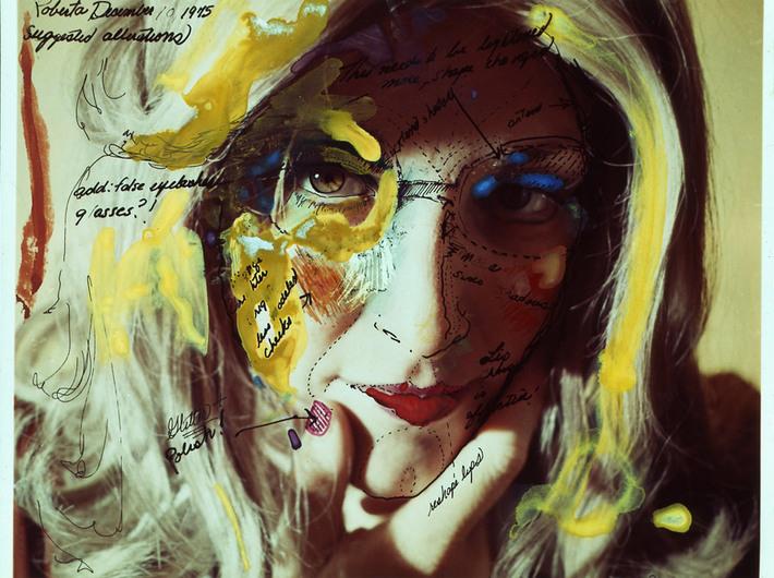 Lynn Hershman Leeson, Schemat konstrukcji Roberty #1, 1975, fotografia, kolorowy druk cyfrowy, dzięki uprzejmości Galerii Waldburger, Bruksela